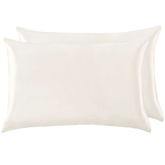1 Pair 100% Mulberry Silk Pillowcase with Hidden Zipper Nature Pillow Case for Healthy Standard Queen King Free Shipping 4