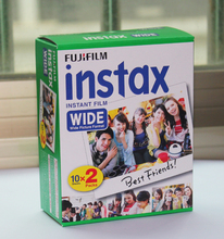 สูงqulaityเดิมFujifilm Instaxทันทีฟิล์มกว้าง20สีขาวแผ่นสำหรับ300 200 210 100 500AFจัดส่งฟรี