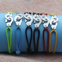 France Fomous Brand Jewelry 925 Sterling Silver Handcuff Bracelet For Women Men Rope Bracelet 925 Silver