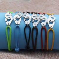 Frankreich Berühmte Marke Schmuck 925 Sterling Silber Handschellen Armband Für Frauen Männer Seil Armband Silber Armband Menottes Bijoux