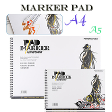 Открытый Портативный 32 листа маркерная книга Студенческая раскраска дизайн блокнот Набор для эскиза Милая книга для рисования школьные маркеры принадлежности