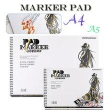 Открытый портативный 32 Листов Маркер Книга Студент Раскраски Дизайн Ноутбук Комплект для Эскиз Милый Ничья книга Школа Маркер Pad Поставки