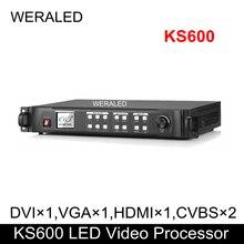 KYSTAR полный Цвет светодиодный видео дисплейный процессор KS600 1920*1200 Разрешение Поддержка 2 шт. карты (TS802 RV908M32 по сниженной цене)
