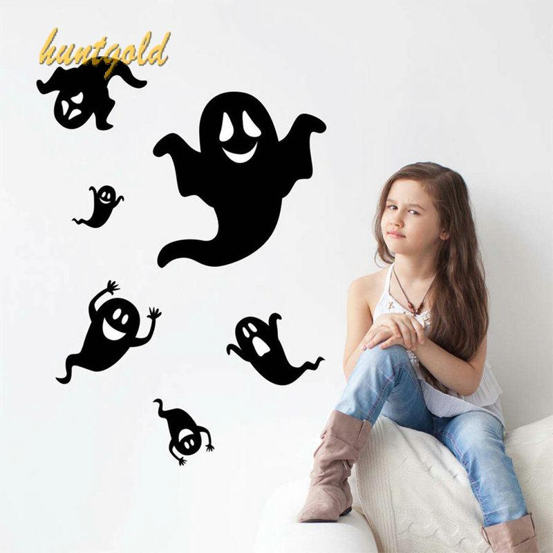 Popular Halloween Cartoon Ghost Wallpaper Interesting Room Decal Wall Sticker