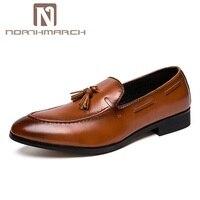 NORTHMARCH Men Leather Dress Shoes Elegant Wedding Shoes For Men Slip On Shoes Men Sepatu Pria Kulit Zapatos De Cuero Hombre