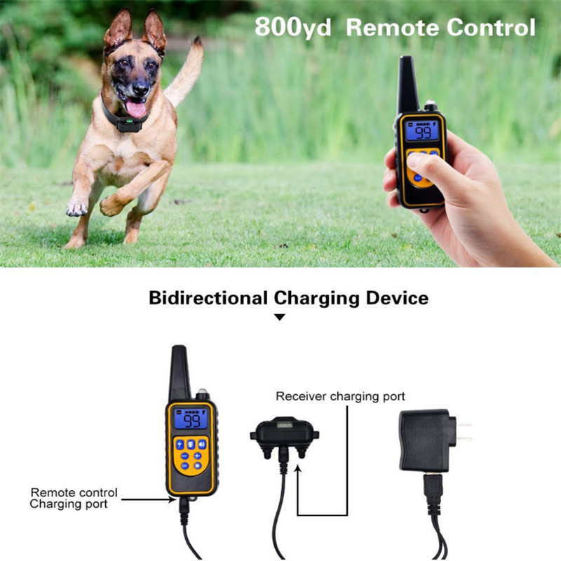 Electric Dog Training Collar Waterproof Rechargeable Remote Control Pet with LCD Display for All Size Bark-stop Collars40% Off-4