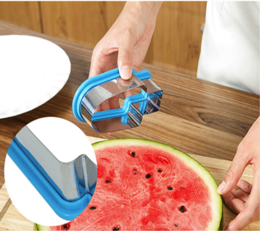 Watermelon Cutters Stainless Steel Watermelon Slice Popsicle Shape Melon Cutting Fruit Tool Cantaloupe Melon Slicer форма для нарезки арбуза
