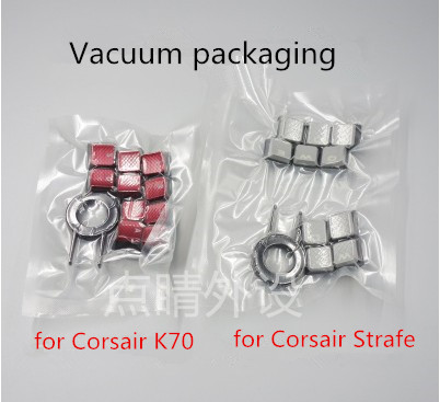 10pcs/pack Original Game Keycaps For K70 K65 K95 RGB STRAFE Keycap Optically-clear Non Slip +1pc Free Keycap Puller