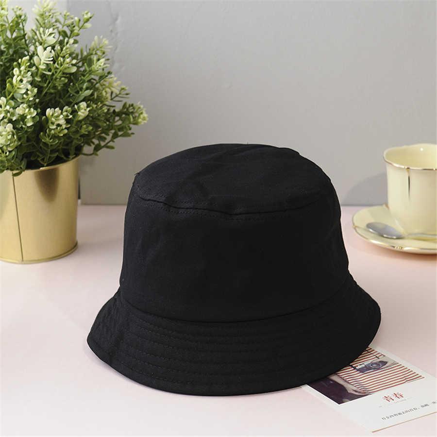 Nowe Unisex bawełniane kapelusze wiadro kobiety lato kapelusz przeciwsłoneczny mężczyźni Pure Color Sunbonnet Fedoras odkryty rybak kapelusze czapka plażowa