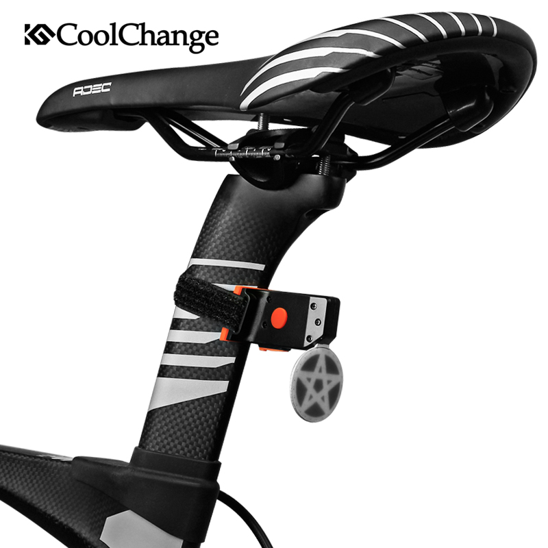 CoolChange Bicycle Light Cycling Bike Taillight LED Rear Light USB Rechargable Warning Lamp Safety Night Riding Light цена