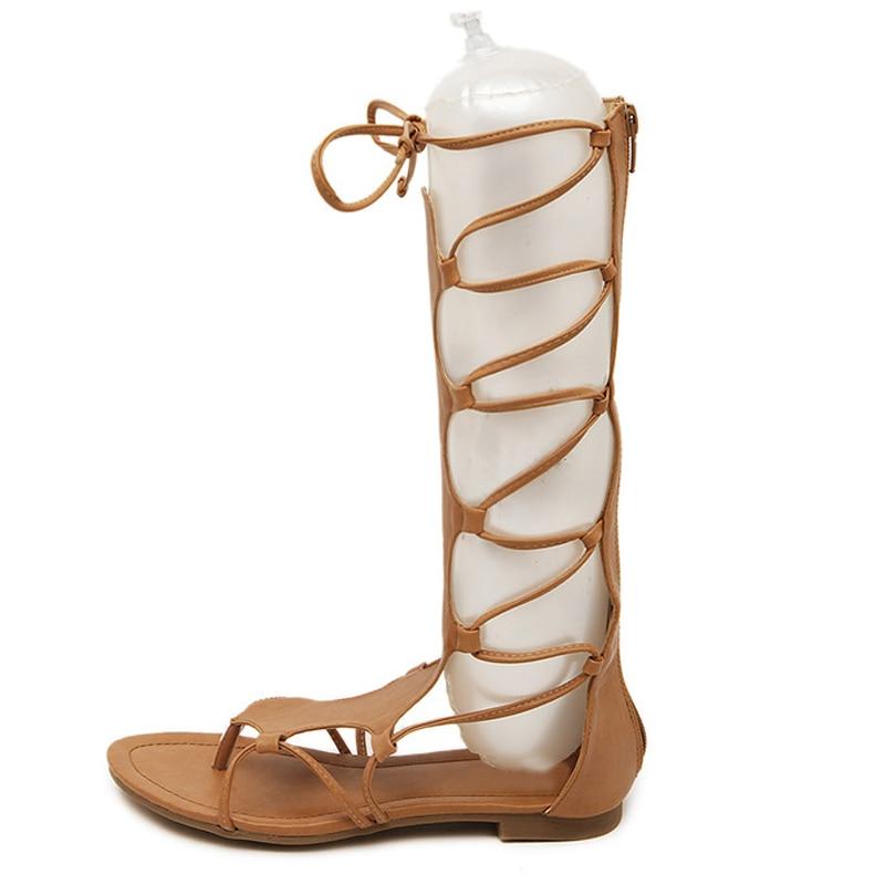 Lacent Chaussures Flops Casual Hee Sexy Haute Black Xwz4937 Sur brown Flip Sandales Femme Glissent Veau D'été Style Grand Gladiateur Femmes SfSYa