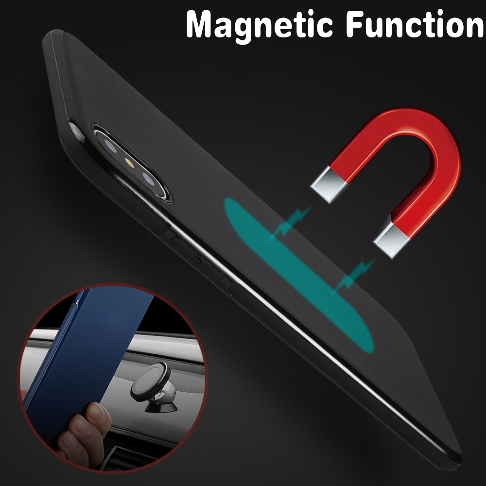 Magnetic <font><b>Car</b></font> Holder <font><b>Case</b></font> for Huawei P20Lite/Huawei Nova 3e Soft TPU Silicone Magnet <font><b>Case</b></font> for Huawei P20 Pro Bulit-in Metal Plate