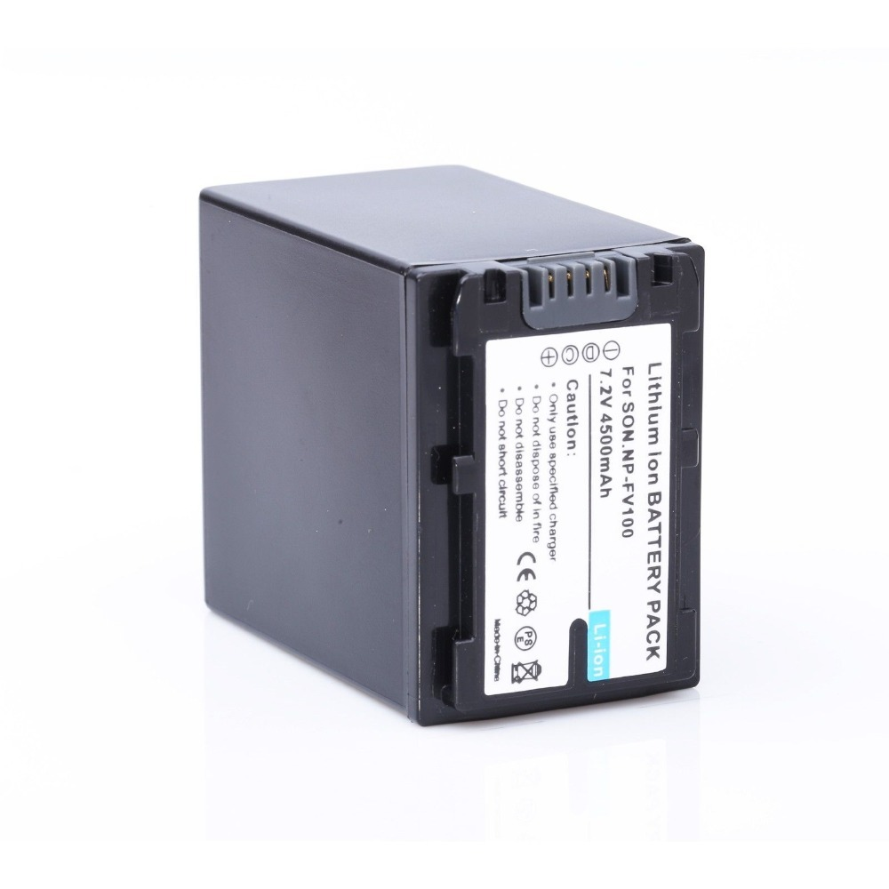 1*NP-FV100 NPFV100 FV100 Decoded Extended Battery 4500mAh For SONY HDR-CX190 HDR-CX200 HDR-CX210 Free shipping