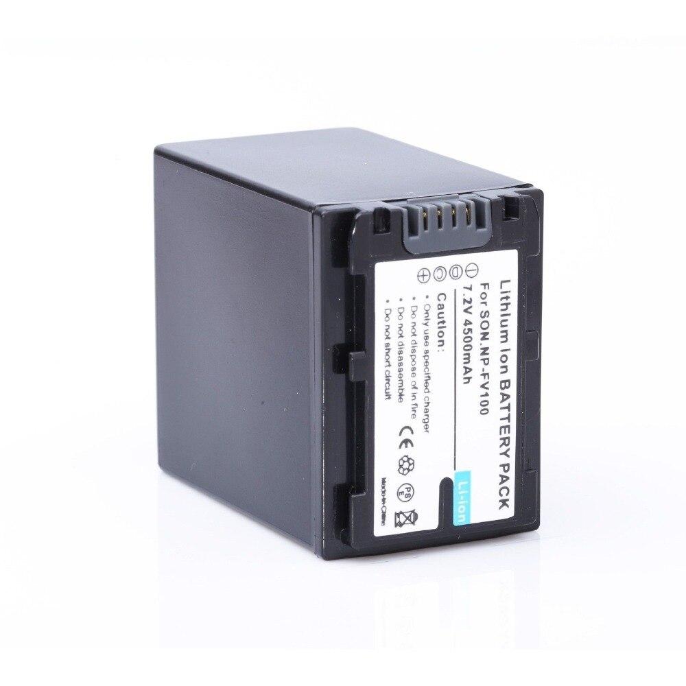 1 * NP-FV100 NPFV100 FV100 decoded batería ampliada 4500 mAh para Sony HDR-CX190 HDR-CX200 HDR-CX210 envío libre