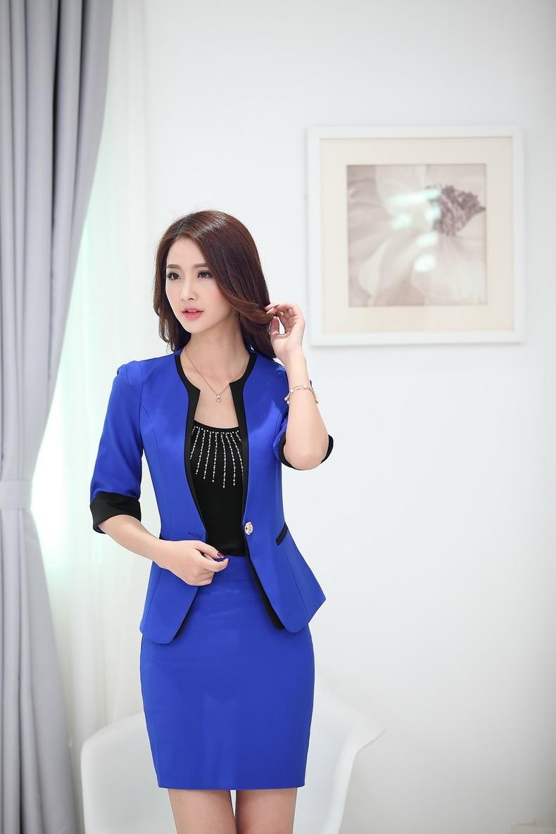 Новинка синий сезон: весна-лето бизнес женский пиджак пальто Топы корректирующие куртки пиджаки для женщин Feminino женские офисные Blaser верхняя одежда