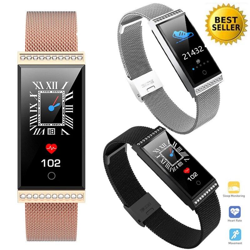 Fasion Dame Smartwatch Étanche IP68 Bluetooth Caméra Finesse Sommeil Tracker Moniteur de Fréquence Cardiaque Calories Intelligent Sport Montre Femme