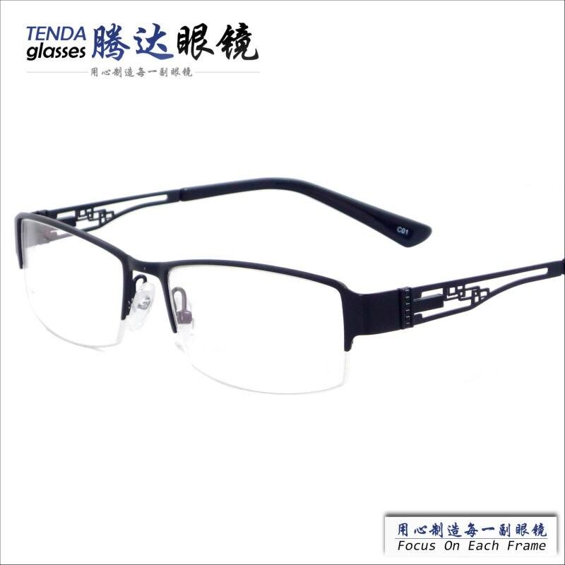 630993b121ad9 Estilo de negócios de moda half-aro de metal óculos armações para os homens