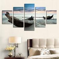 2016 Tranh Thực Có Khung 5 Piece Các Tàu Biển Seascape Modern home trang Trí Tường Canvas Ảnh Nghệ Thuật Hd In Tranh Trên Cho