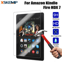 Tablet Ultra Clear Tempered Glass For Kindle fire HDX 7.0 Anti-glare LCD 9H Hardness Explosion Proof Guard Screen Protector Film