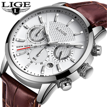 LIGE 2019 Watch Men Fashion Sport Quartz Clock Mens Watches Brand Luxury Leather Business Waterproof Watch Relogio Masculino dom watch men fashion sport quartz clock mens watches brand luxury fashion leather business waterproof watch relogio masculino