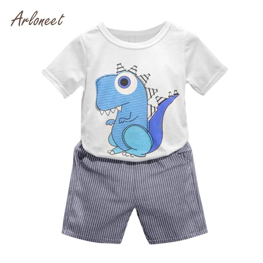 Arloneet baby clothing set toddler kid baby boys cartoon for T shirt printing for babies