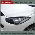 Para 2007-2014 Mazda 2 Mazda2 Demio Hatchback 5DR Real da Fibra do Carbono Sobrancelhas Pálpebras Farol