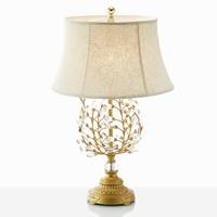 Американский настольная лампа кристалл лампы Европейский просто мода Настольный свет Гостиная Кабинет Спальня прикроватные Светодиодная