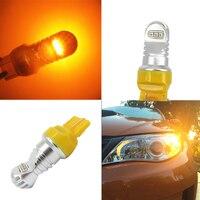 WLJH 2pcs T20 7443 W21 5W 7444 LED Auto Brake Lights Car Turn Signals DRL Driving