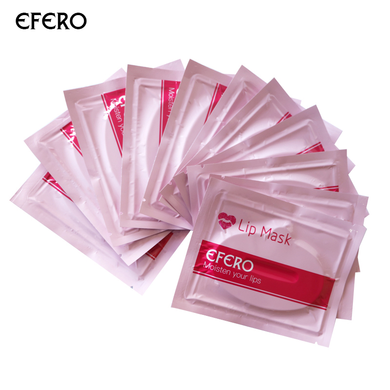 10pcs Crystal Gel Lip Patches Collagen Lips Mask Pads Moisture Hydrating for Lip Plumper Nourishing Anti-aging Beauty Skin Care