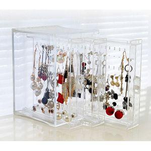 Image 5 - Ücretsiz kargo 200 delik küpe çıtçıt kolye takı vitrin rafı standı organizatör tutucu depolama