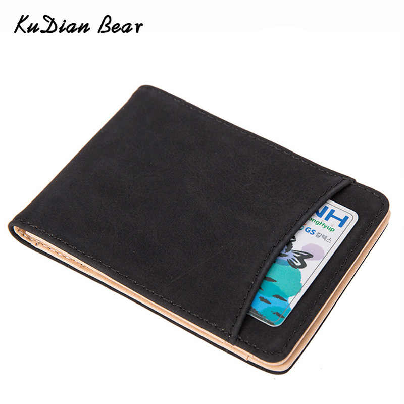 KUDIAN BEAR Money Clip Men Wallets Minimalist Car-Covers Magnet Clamps for Money Holder Carteras Hombre-- BID148 PM49