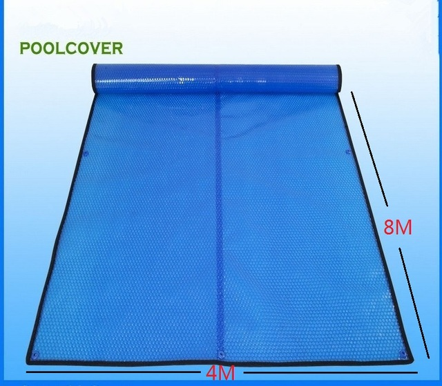 Cheap 4*8m Customized & wholesale swimming pool cover / solar cover / solar blanket / solar pool cover 400 um,Bubble Cover