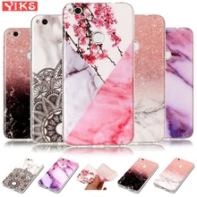 Floral Marble Case For Huawei P10 P9 P8 Lite 2017 Silicone