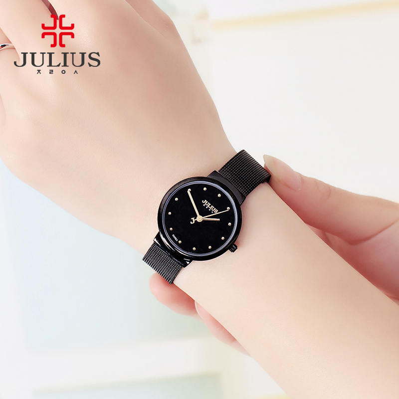 Image 4 - Thin Classic Lady Womens Watch Japan Quartz Girl Hours Fine Fashion Clock Bracelet Stainless Steel Girl Lovers Gift Julius Box-in Womens Watches from Watches on AliExpress