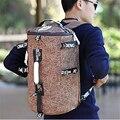 L01 Marca das mulheres dos homens sacos de viagem mensageiro saco de duffle mochilas bolsas de viagem da lona balde saco da noite para o dia