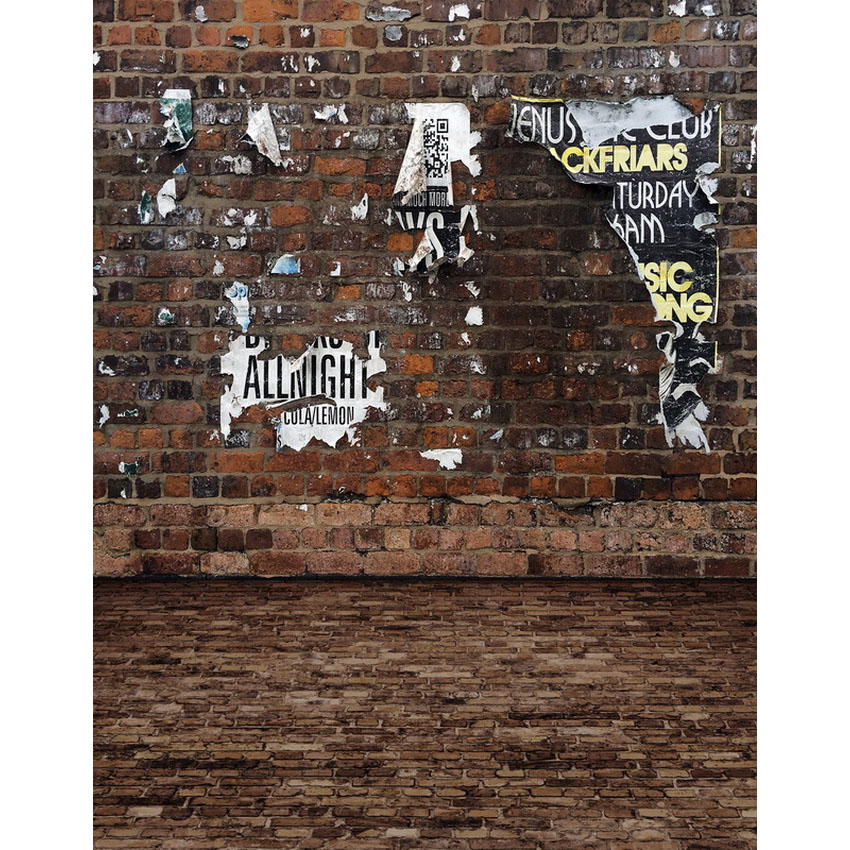 12 ft vinyl cloth print grunge brick portrait wall photo studio backgrounds for photocall photography backdrops props S-2265
