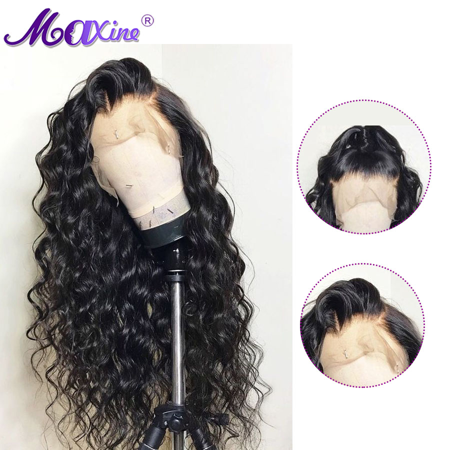 Maxine Lace Front Human Hair Wigs For Black Women Loose Wave Peruvian Wig 130 Density Remy