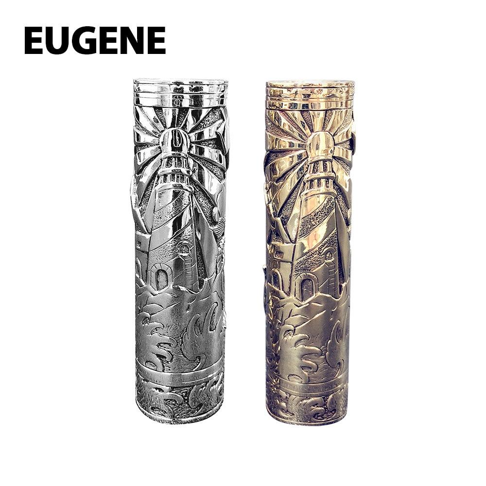 D'origine EUGENE Phare Manuel Sculpture Mech MOD avec Manuel Mosaïque Artisanat No18650 Batterie Électronique Cigarette Vaporisateur Mod