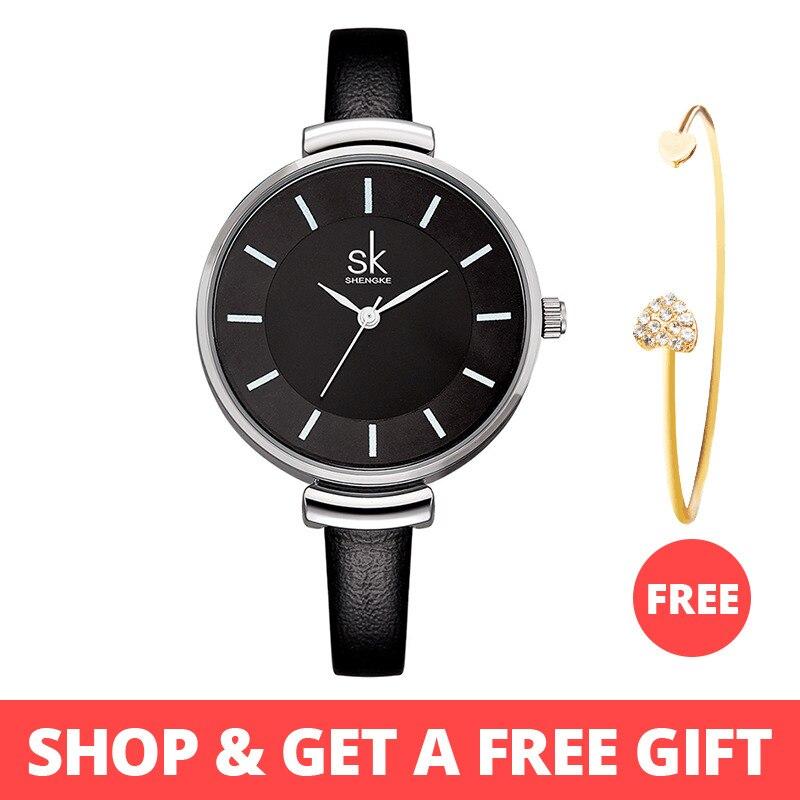 e464b2787aa6 Shengke marca relojes de pulsera de cuarzo mujer de cuarzo de moda Casual reloj  mujer relojes