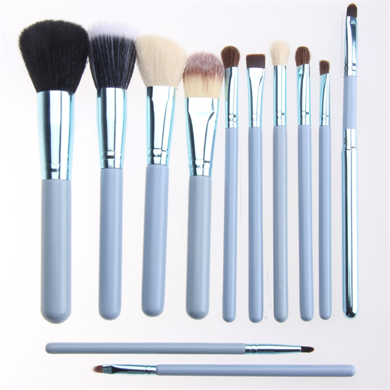 BBL 12pcs Solid Color Makeup Brushes Set Foundation Brush Eyeshadow Eyebrow Contour Powder Blending Brush Brush Pincel Maquiagem pro 15pcs tz makeup brushes set powder foundation blush eyeshadow eyebrow face brush pincel maquiagem cosmetics kits with bag