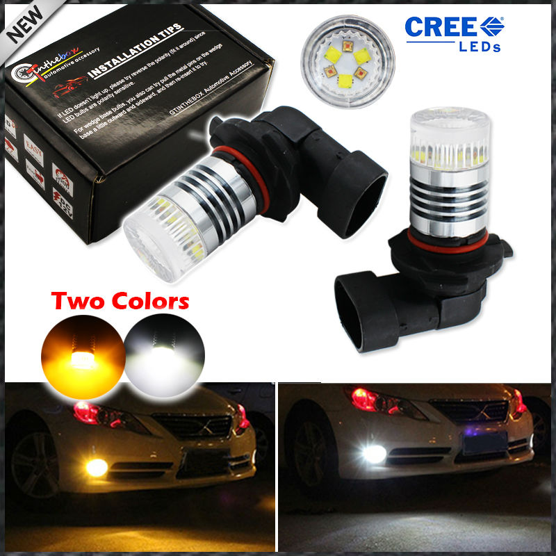 iJDM Color Switchable Xenon White/Amber Yellow High Power 9006 HB4 9012 LED Bulbs Fog Lamps or Driving Light Replacement как квартиру у должников