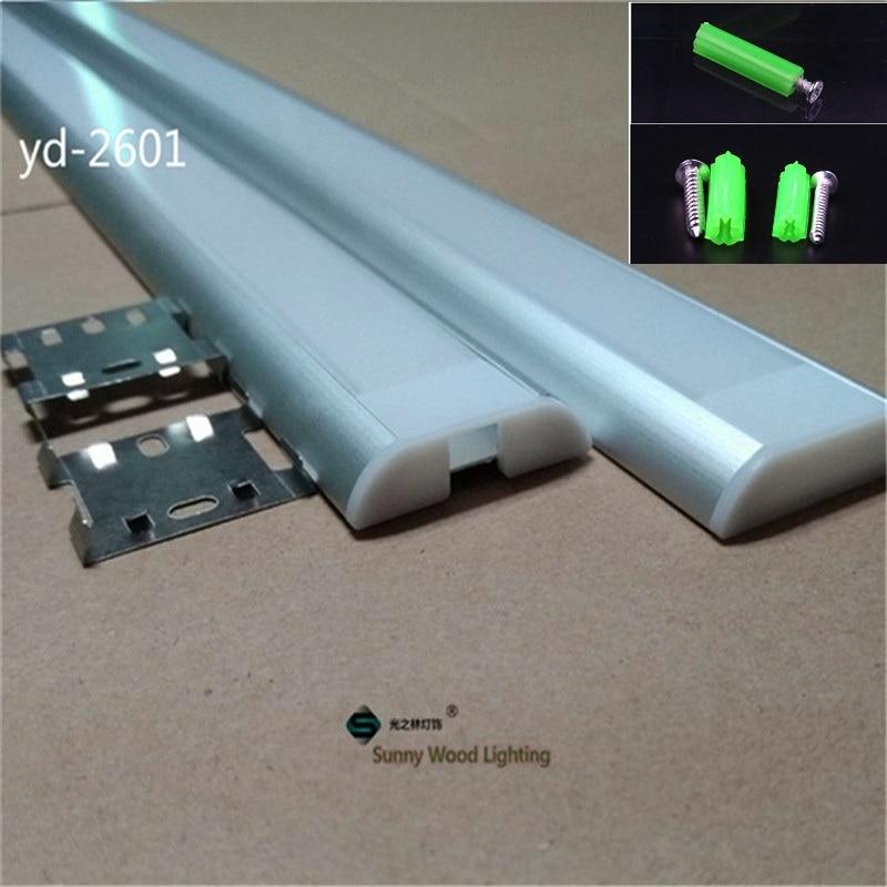 5 30pcs lot 40inch 1m led bar light housing W39 H9mm aluminium profile for 26mm pcb