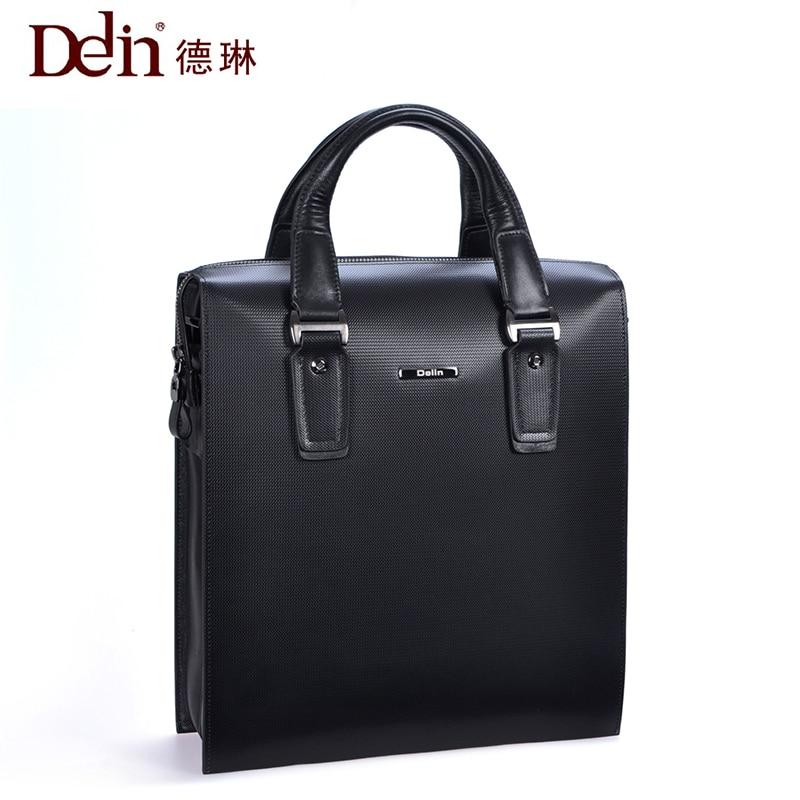 Delin Deline handbag vertical section cowhide shoulder Messenger bag briefcase men bag purse cross bag large capacity deline джемпер deline g22100116 зеленый