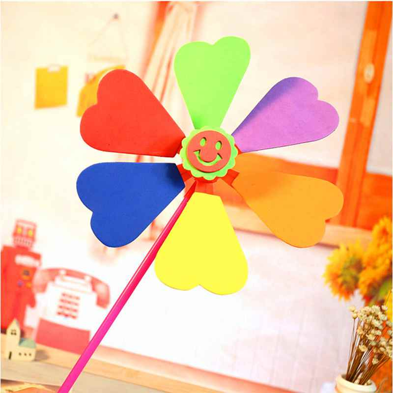 bdbf53aad Aliexpress.com : Buy 1pcs EVA Sticker six leaf windmill multicolor DIY  craft toy 2 7 years old kids for unisex children Educational toys from  Reliable ...