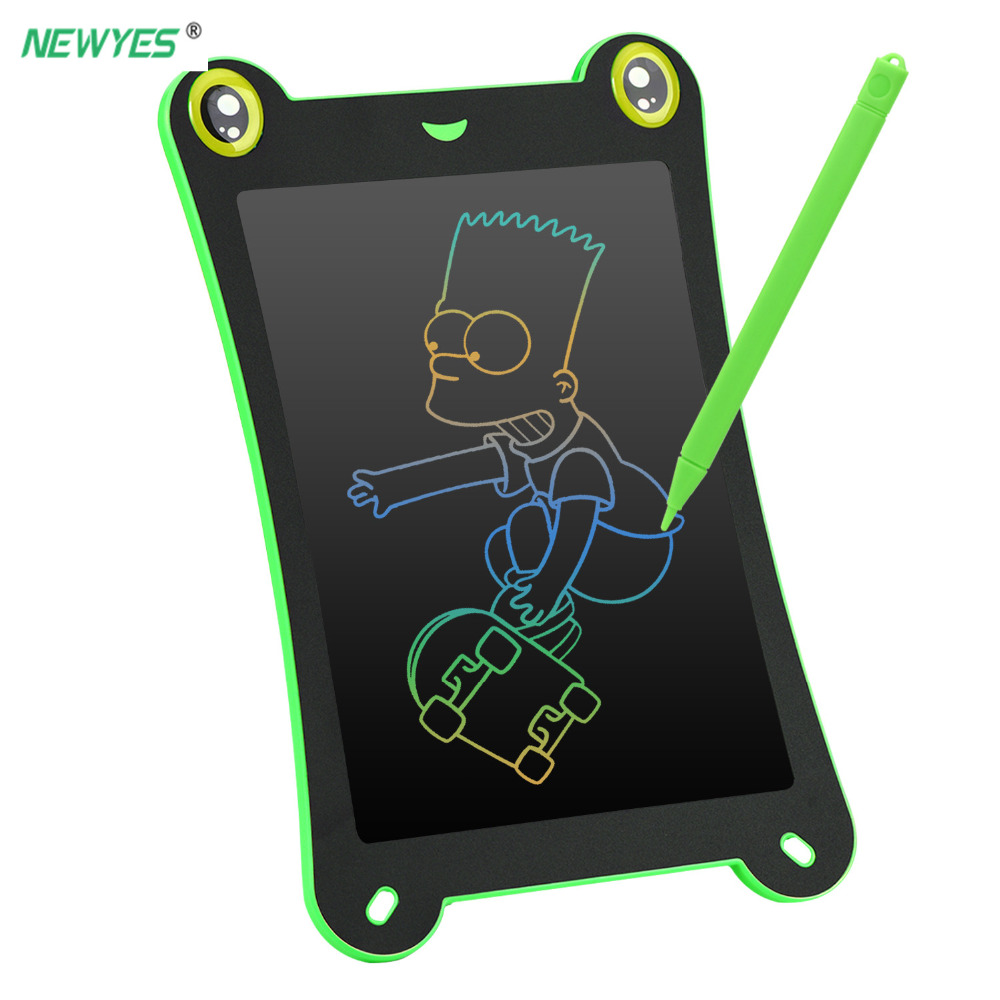 NEWYES Colors screen LCD Writing Tablet 8 5 Drawing Handwriting Pad Message Board Kids Writing Board