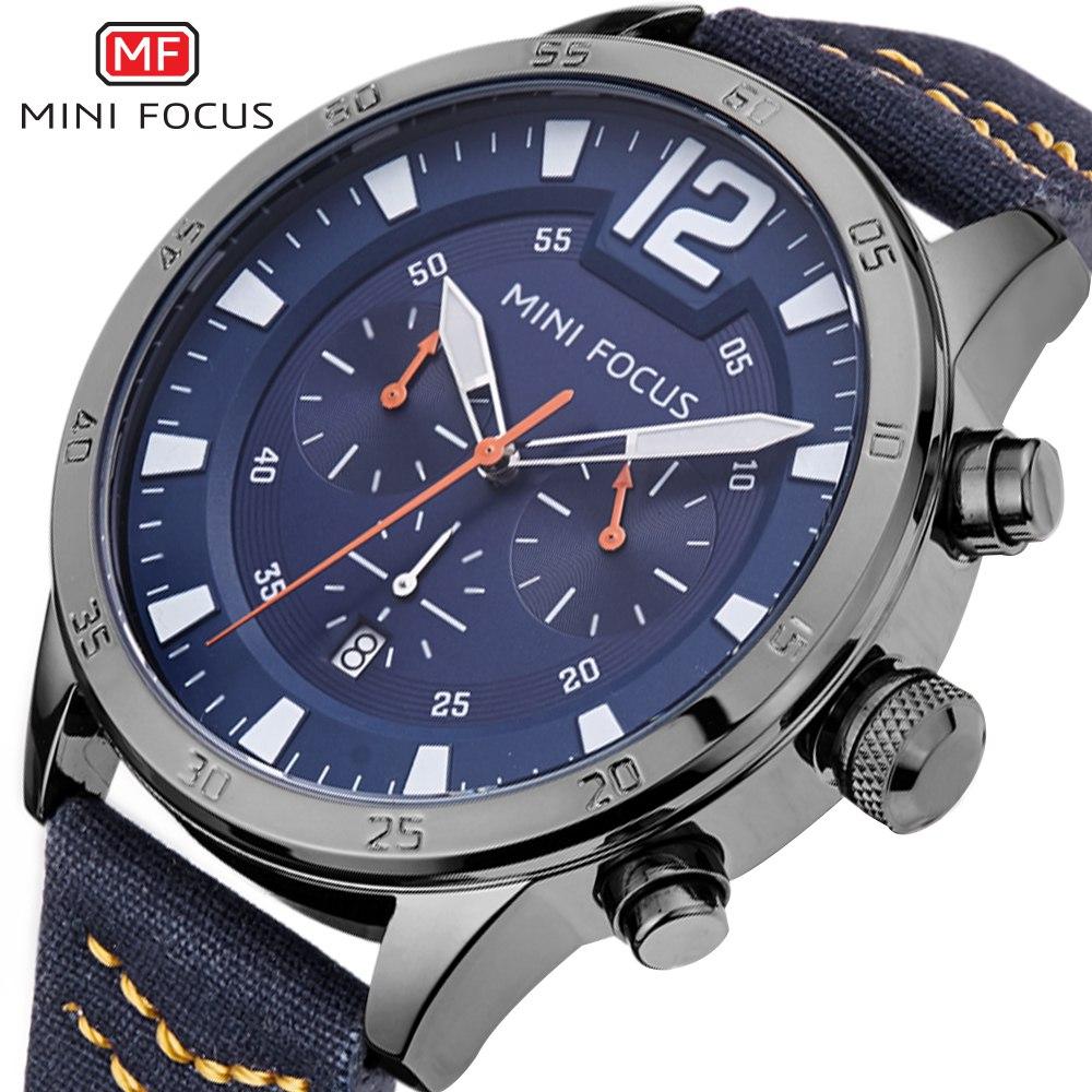 MINI FOCUS 2018 Nieuwe Topmerk Mannen Horloges Militaire Quartz - Herenhorloges