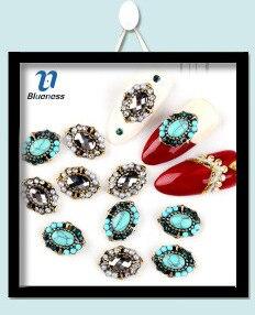 1 коробка Блестки для нейл Арта(искусство украшения ногтей) 11 Цвета ромб Аврора Блестящий Маникюр наклейки 3D прелести блеск Пластик лист для DIY Nail BG151-BG161