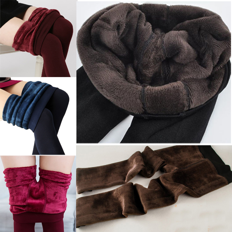 4fc27da74c968 New Women's Solid Winter Thick Warm Fleece Lined Thermal Stretchy Leggings  Pants