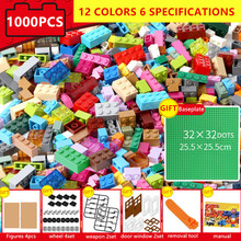 1000Pcs Bricks Designer Creative Classic City DIY Building Blocks Bulk Sets LegoINGLs Minecrafteds Educational Toys For Children