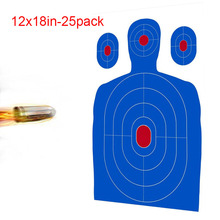 12 X 18 Inch Blue Silhouette Reactive shooting Target stickers for shooter - Big Targets air rifle guns